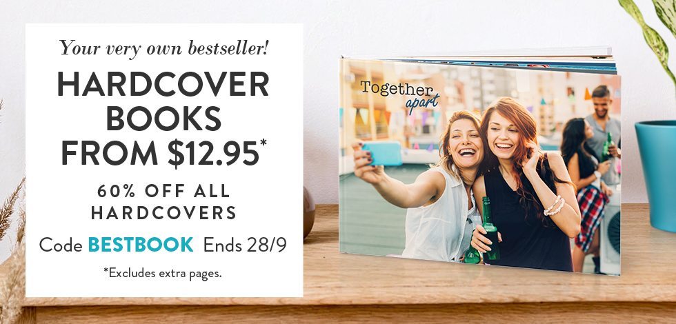 60% off all Hardcover Books*