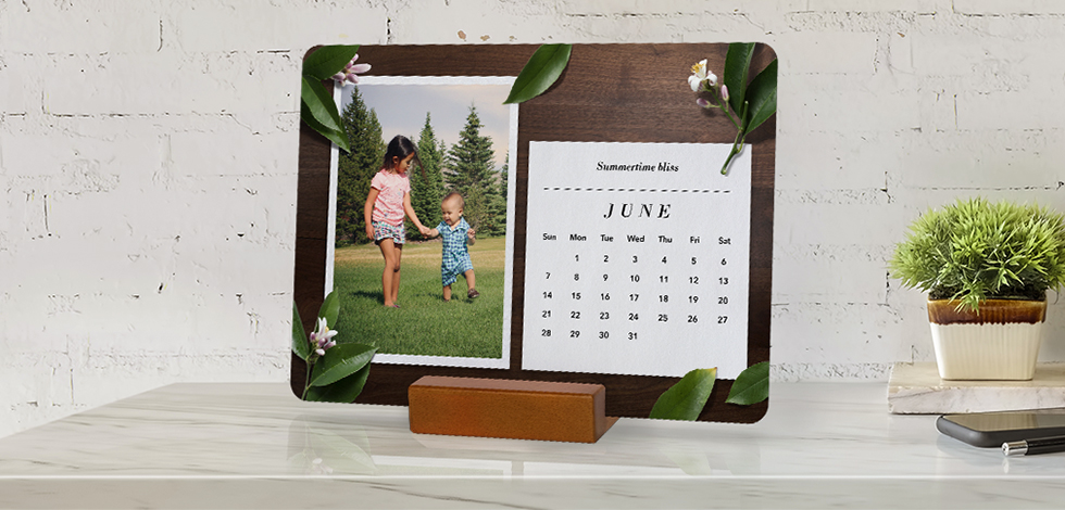 Wood Block Desk Calendars