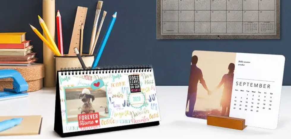 Personalized photo calendars — stay organized with style!