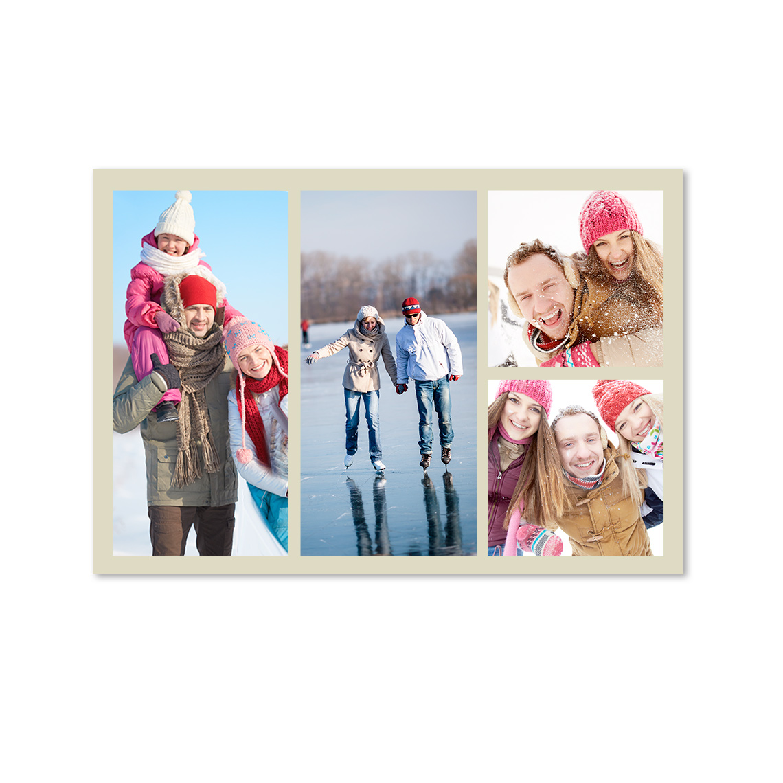 """An image of 10"""" x 8"""" (25x20cm) Personalised Collage Photo Prints - Gloss 