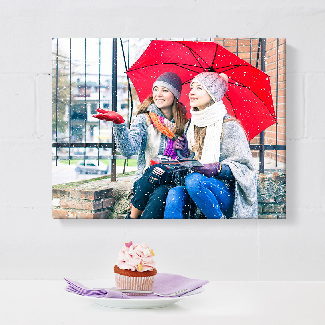 """An image of 10"""" x 8"""" (25x20 cm) Personalised Slim Canvas 