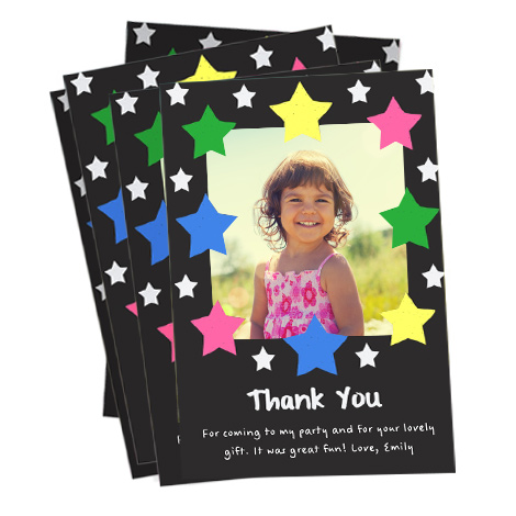Thank You Stars Card Design