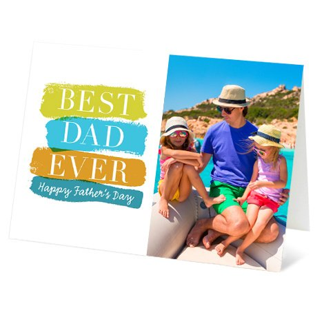 """""""Colourful Dad"""" Design Father's Day Card"""
