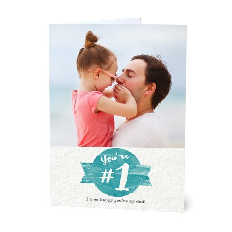 """You're No.1"" Design Father's Day Card"