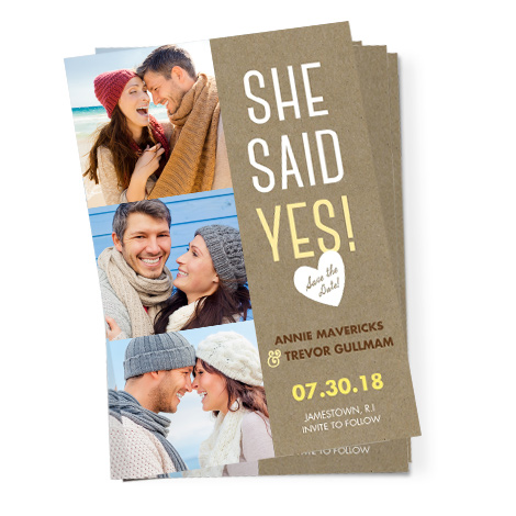 She Said Yes Card Design