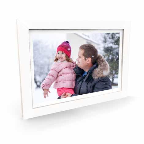 "18x12"" Premium Framed Print - White"