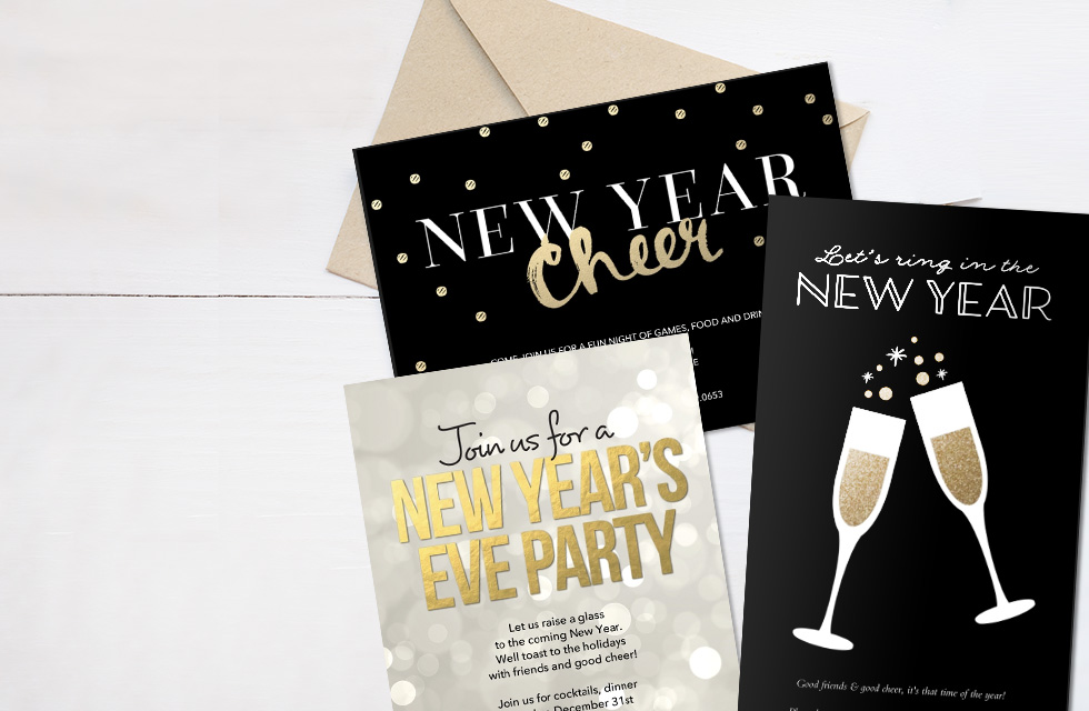 Personalised Invitations - New Year Party