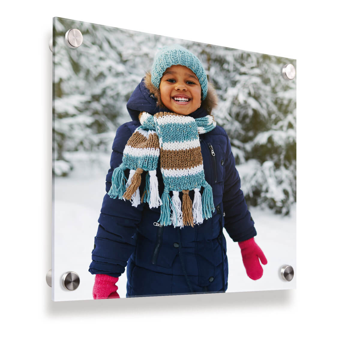 """An image of 10"""" x 10"""" (25x25cm) Personalised Acrylic Photo Panel 