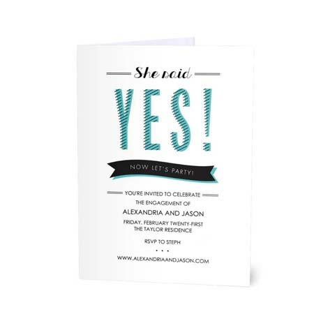 She Said Yes Design - Packs Of 20 From 75p