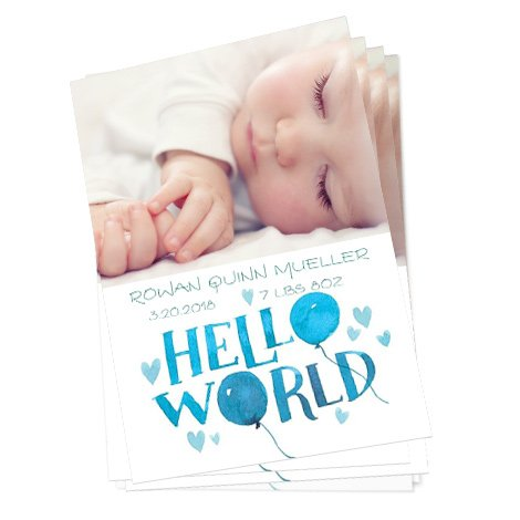 Hello World Card Design