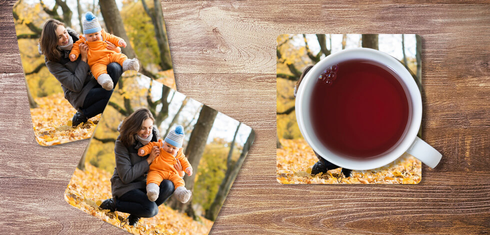 Personalised Photo Coasters From £14.99
