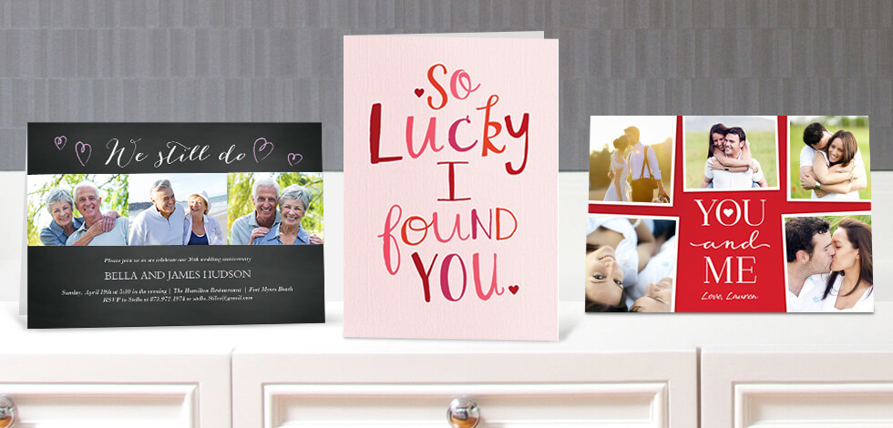 Personalised Anniversary Cards & Invitations From 75p