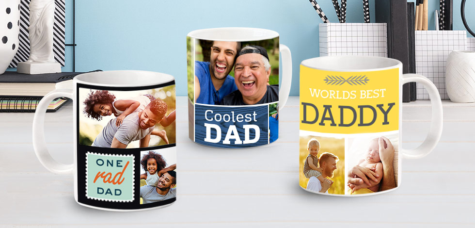 Make Dad smile every morning - Personalised Mugs From £7.99