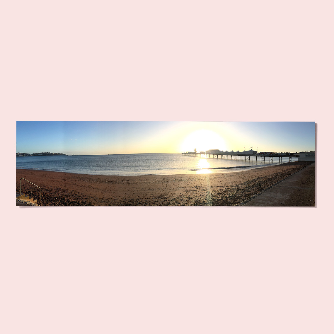 """An image of 14"""" x 4"""" (35.5x10cm) Personalised Panoramic Photo Print - Gloss 