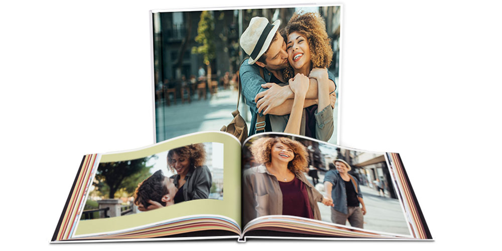 Custom Cover Photo Book. Personalized photo books. Personalize a one-of-a-kind photo book to celebrate the new baby, vacation photos, family recipes and more. Feature up to 15 photos per page and add photo captions and page titles. Die-cut window in cover to showcase a favorite photo. Feature several photos on up to 30 double-sided pages. Add captions and page title & change themes, page backgrounds and layout!