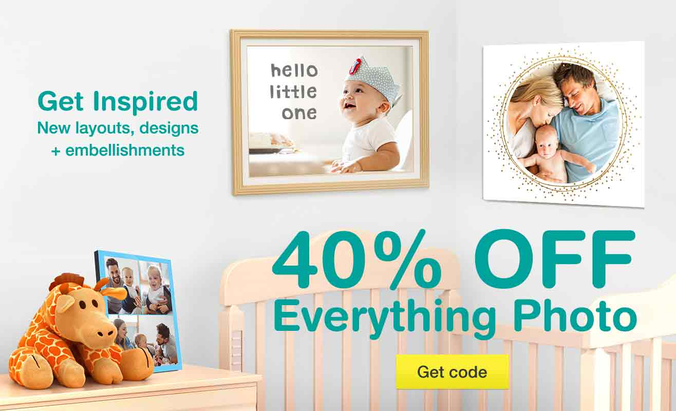40% OFF Everything Photo. New layouts, designs + embellishments. Get code.