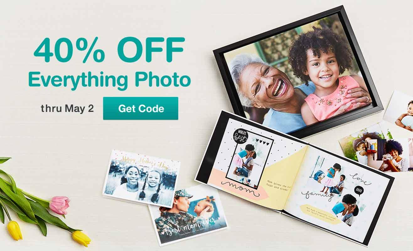 40% OFF Everything Photo thru May 2. Get code.