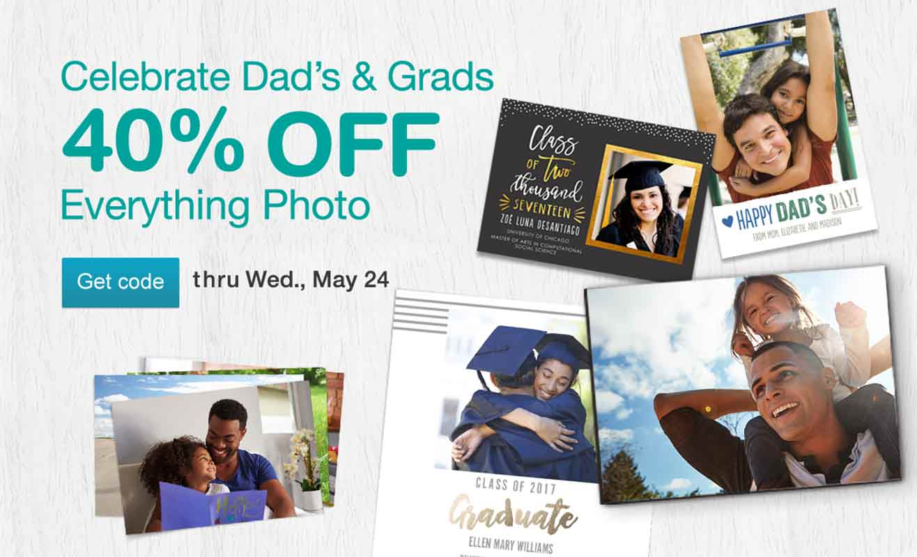 Do more with your photos! 40% OFF Everything Photo thru Wed., May 24. Get code.