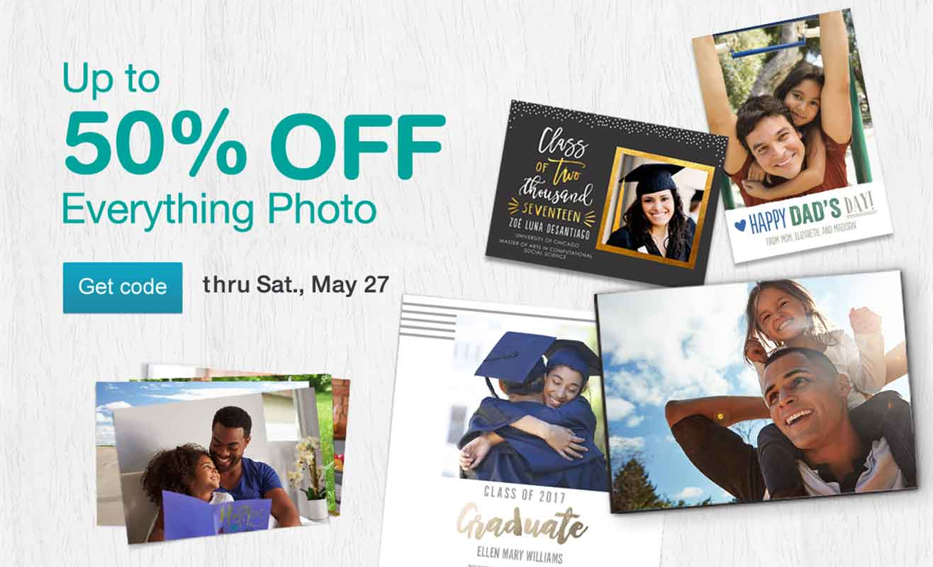 Up to 50% OFF Everything Photo thru Sat., May 27. Get code.